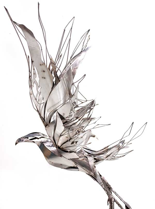 Such a very special piece to create for the beautiful Sarah Curtis in memory of her mother Rene, whose ashes now rest inside the heart centre of the eagle.