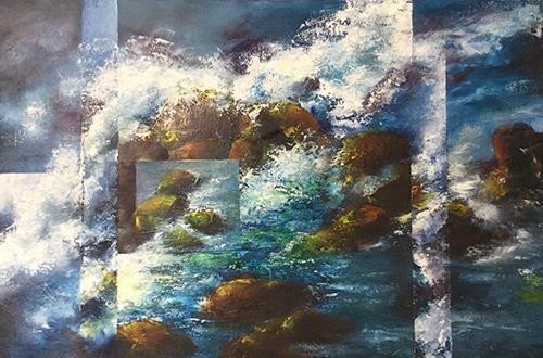 Beryl White Surge Oil on canvas