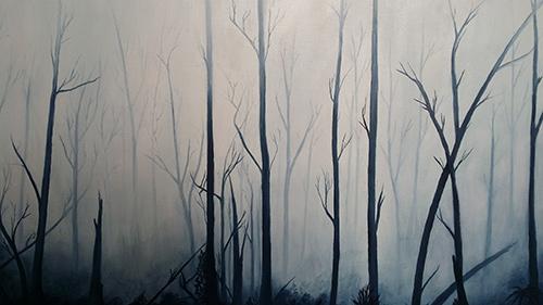 Claudia Hull Morning Mist Oil on Canvas